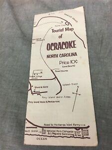 1970's Tourist Map of Ocracoke North Carolina Brochure