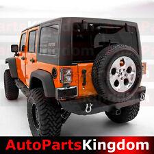 "Rock Crawler HD Rear Bumper+2""Hitch Receiver+Black for 07-17 Jeep JK Wrangler"