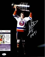 Denis Potvin Signed 11x14 Photo w/ JSA COA #Q70681 New York Islanders