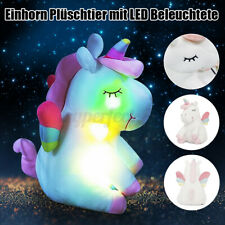 Plüscheinhorn Plüschtier Einhorn Kuscheltier LED Beleuchtete Plüsch Pink ★❤