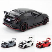 1:32 Honda Civic Type R Sedan Model Car Diecast Gift Toy Vehicle Pull Back Kids