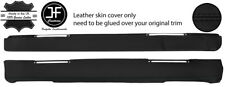 BLACK STITCH TOP DASHBOARD LEATHER COVER FITS LAND ROVER SERIES 2 2A 3 STYLE 2