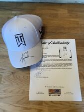 Tiger Woods Signed Official WHITE TW Hat Autographed