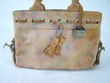 Dooney & Bourke Inc Designer Beige Leather HandBag Purse Vintage