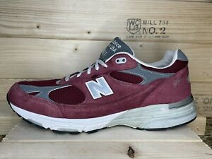 RARE Men's New Balance 993 M993 Sz 12 Burgundy Wine Suede MADE IN USA Shoes 990