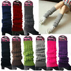 Winter Warm Knit High Knee Leg Warmers Crochet Women Leggings Slouch Boot Socks