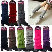 Women Winter Slouch Warm Knit Crochet High Knee Leg Warmers Leggings Boot Socks
