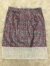 New J Crew Glitter Mosaic Pencil Skirt with Lace Hem Multi Sz 6 Sample Item!