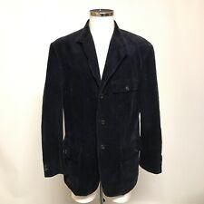 "Ralph Lauren Corduroy Look Blazer Size L 42-45"" Black Casual Suit Jacket 300252"