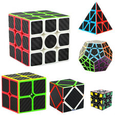 3x3x3/2x2x2/Pyramid Speed Cube Carbon Fiber Sticker for Smooth Magic Cube Puzzle