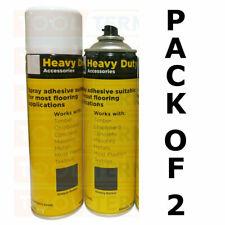 More details for 2 x spray adhesive 500ml glue for vinyl, carpets, flooring, upholstery, underlay