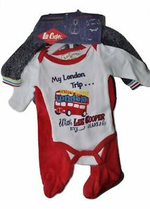 Lee Cooper Ensemble Bébé 3 P Cardigan Pantalon Body Coton