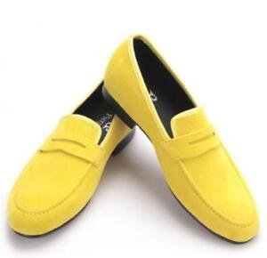 mens suede leather loafer moccasins soft slippers driving dress leisure shoes SZ