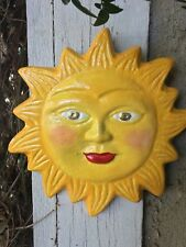 Handcrafted cement Sun plaque/indoor/outdoors/ha nging/garden/patio/porch/d ecor