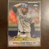 2019 Topps Chrome Update Family Business Fernando Tatis Jr RC Padres