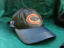 Vintage Logo Athletic Chicago Bears Leather Hat NFL Cap Made USA All Embroidered