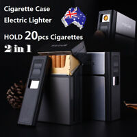 20pcs Cigarette Lighter Case Box with Electronic Lighter Flameless Windproof AU