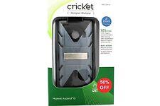 Cricket Designer Shellster Case for Huawei Ascend Q - Grey/Black - CSH114