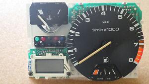 Drehzahlmesser, Digitaluhr mit MFA + Temperaturanzeige, VW Golf II G 60, GTI 16V