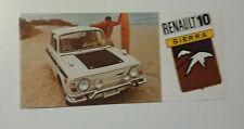 RENAULT R10 SIERRA DEPLIANT BROCHURE USA NOS