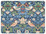 Pimpernel Morris & Co Strawberry Thief Blue Placemats Table Mats Set of 6 New