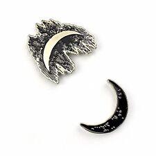 "Enamel Pin - Satan Baphomet Pentagram Lapel Sun and Moon Duality Set - 1"" Soft"