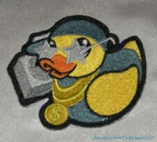 Embroidered Retro Hip Hop Rap Star Rubber Duckie Duck Patch Iron On Sew On USA