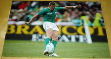 RONAN O'GARA IRELAND RUGBY HAND SIGNED AUTOGRAPH 12X8 PHOTO