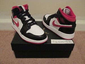 NIKE AIR JORDAN 1 MID WHITE GYM RED BLACK SIZE 4Y NEW IN HAND SHIPS NOW 🚚💨