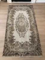 """Turkish Oushak Wool Area Rug, Vintage Hand Knotted, 6'10""""x 3'7"""", FREE SHIPPING!"""