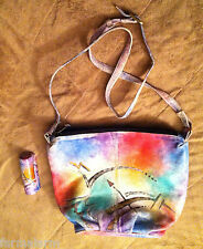 Emily Ann Of Boca Raton Leather Hand Painted Southwest Desert Purse Shoulder Bag
