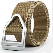 "1.5"" Mens Nylon Web Belt Metal Buckle Causal Sports Training Trousers Belts 47"""