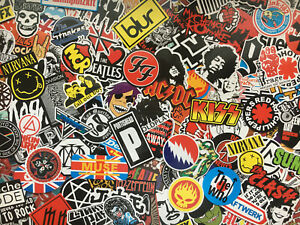 Lot de stickers Rock, logos, groupes de musique, metal, rock n roll, punk, music