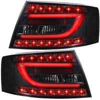 Rückleuchten Set LED Lightbar für Audi A6 4F Limo Bj. 04-08 smoke schwarz 7 Pin
