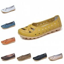 12 Colors Women Nurse Loafers Hollow Casual Slip On Mom Clogs Sandals Shoes 44 B
