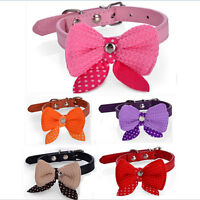Bow Tie Necktie Dog Puppy Cat Bowknot Pet Collar Polka Dot Choker Necklace  LS