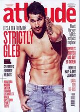 ATTITUDE MAGAZINE FEBRUARY 2016 N 266 ~ STRICTLY GLEB SAVCHENKO ~ ED SKREIN