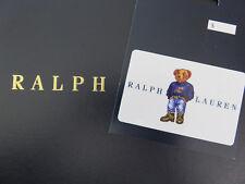 Polo RALPH LAUREN POLO Bear No Value Gift Card ID Card Collectible