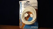 NEW Vintage 4 prong Telephone Phone Wire Extension Cord Arista 25 FEET NIP