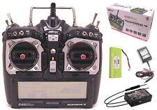 Hitec Aurora 9 9CH 2.4GHz HELI AIR Transmitter Optima 9 Receiver MD2 Radio MD2