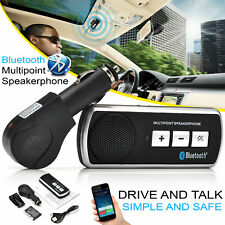BLUETOOTH WIRELESS HANDSFREE CAR KIT SPEAKER PHONE SUN VISOR CLIP CAR CHARGER