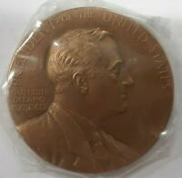 US Mint Franklin D. Roosevelt Presidential High Relief Bronze Inaugural Medal