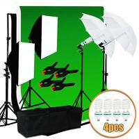 Photography Studio Light Video Photo Softbox Kit Muslin Backdrop Lighting Kit