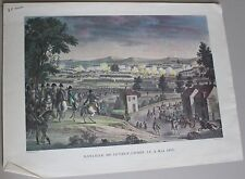 1- ANCIENNE GRAVURE ESTAMPE BATAILLE DE LUTZEN 1813 BOVINET XIX EME