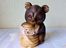 Vintage Honey Bear Bank Ceramic Collectible Keepsake Brown Smokey the Bear