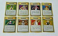 LOT POKEMON POCKET JAPAN 8 CARDS GAME CARTES TRAINER SET GYM HEROES CHALLANGE **
