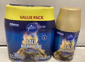 3 Fall Night Long Glade Automatic Spray Refill 6.2 oz
