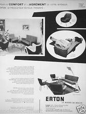 PUBLICITÉ 1957 ERTON HOP-RELAX FAUTEUIL BUREAU DIRIGÉ PAR HENRI CAILLON