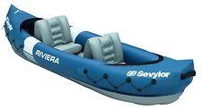 Savylor Canoa gonfiabile Kayak 2 posti 312x88cm con pagaia lago fiume RIVIERA