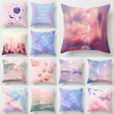 18'' Square Pink Sky Polyester Pillow Case Waist Cushion Cover Sofa Home Decor